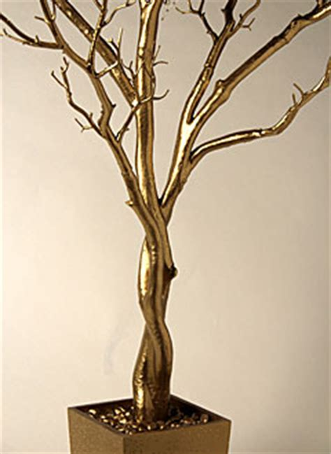 4 foot gold tree in decorative pot bendable branches