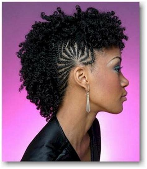braided hairstyles in a mohawk braided mohawk hairstyles for black girls