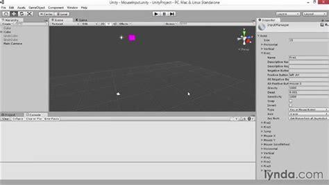 unity tutorial input mouse input
