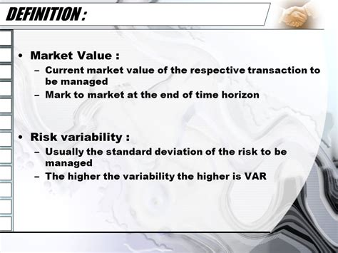 value at risk ppt