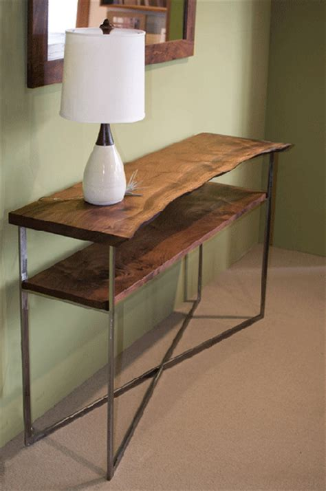 Metal Entry Table X Entry Table With Metal Base The Joinery Portland Oregon