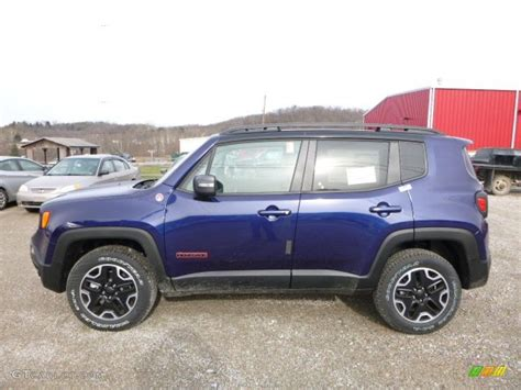 Jetset Blue 2016 Jeep Renegade Trailhawk 4x4 Exterior