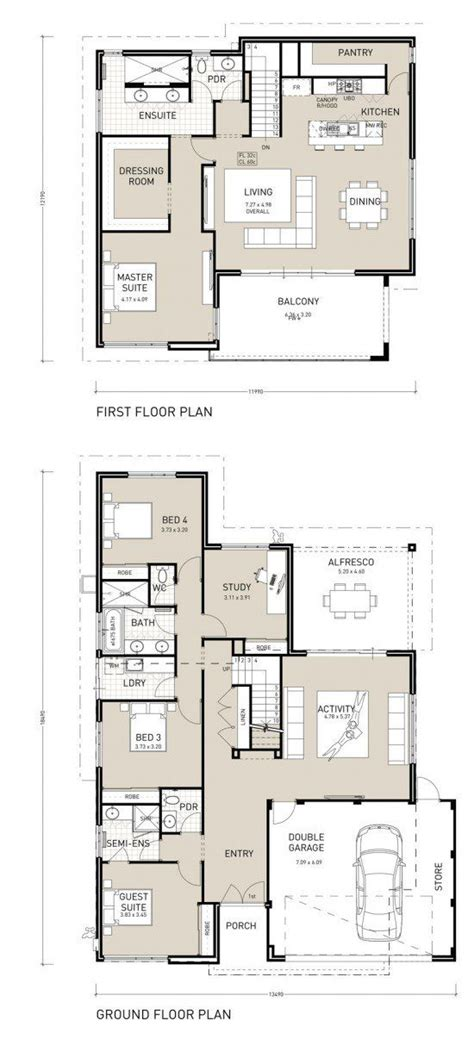 Upside Down House Floor Plans | nautica upside down living design reverse living plan