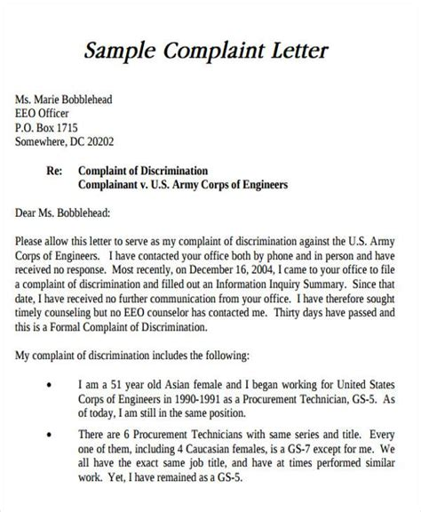 Complaint Letter Exle To An Employer sle formal letter format 34 exles in pdf word