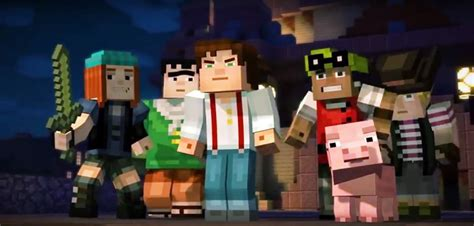 minecraft story mode minecraft story mode news to get world premiere