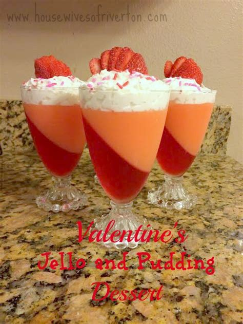 valentines pudding s day jello and pudding dessert of