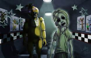 Fnaf chica and her ghost by ladyfiszi on deviantart