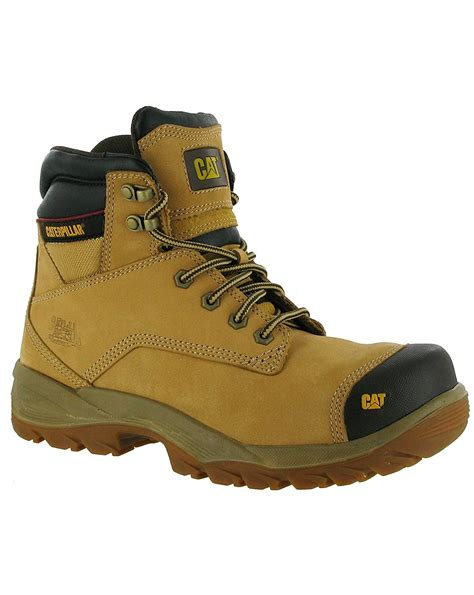 Boots Caterpilar caterpillar spiro mens safety boots honey 10 s shoes