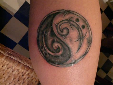 bass clef tattoos my new yin yang bass clef tattoos