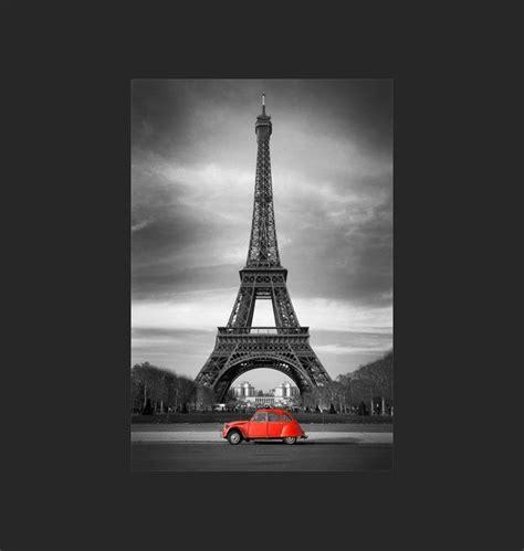 Ordinaire Chambre Ado Noir Et Blanc #3: citroen-2cv-rouge-et-tour-eiffel-en-noir-et-blanc.jpg