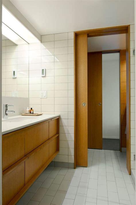 Modern Bathroom Doors by Modern Pocket Doors Bathroom Midcentury With Capitol Hill
