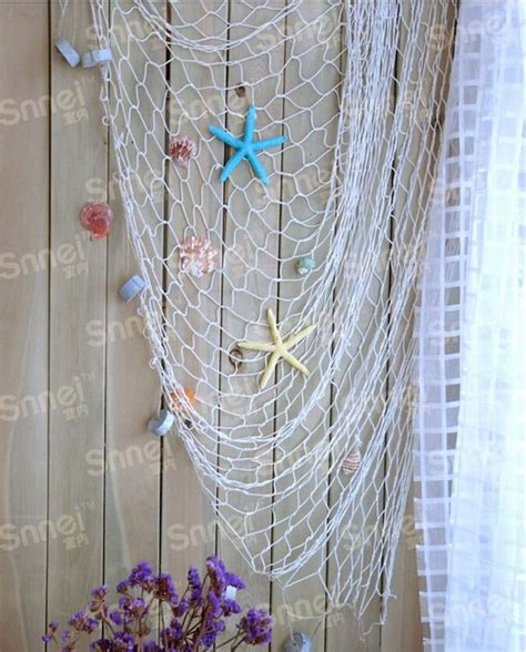 decorative fish net wall decoration creative chic fishing net beach scene party decoration