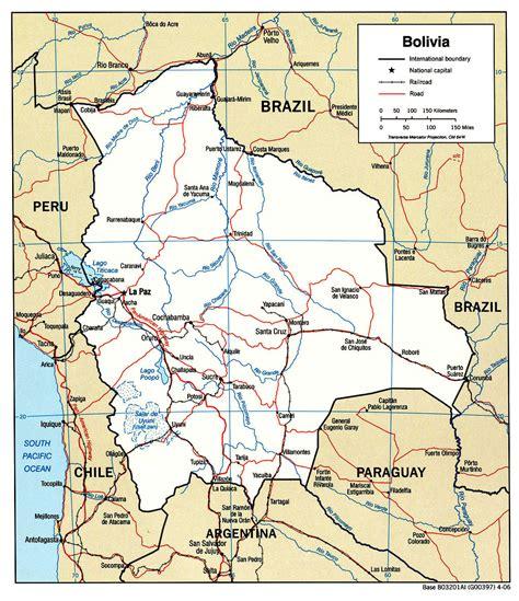 bolivia political map bolivia maps