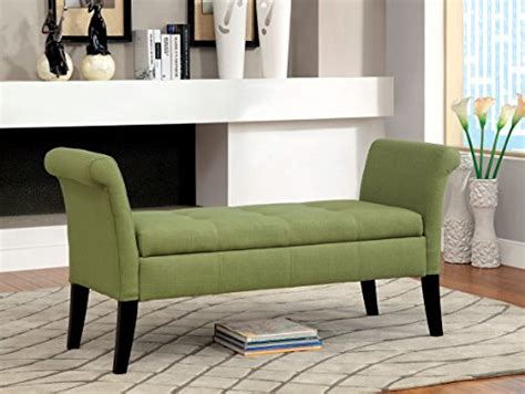 Upholstered Accent Bench Furniture Of America Gracelle Upholstered Accent Bench