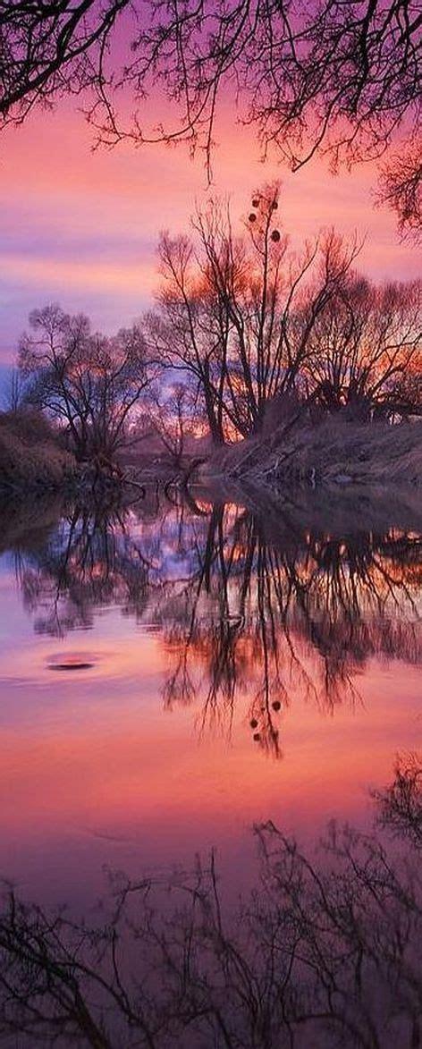 english sunset spectacular scenery pinterest purple pink sunset at river odra czech republic by jan
