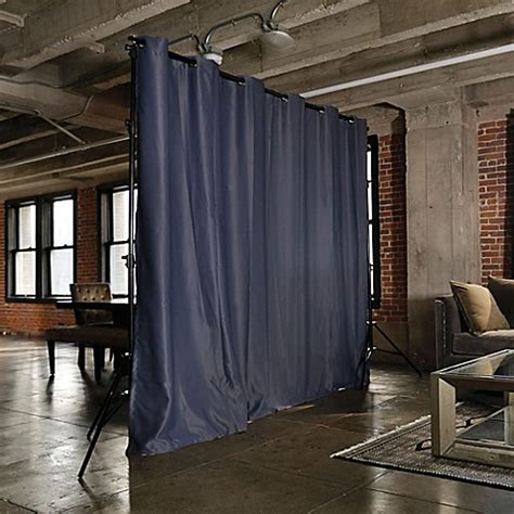 curtains on runners roomdividersnow freestanding room divider kit with 8 foot