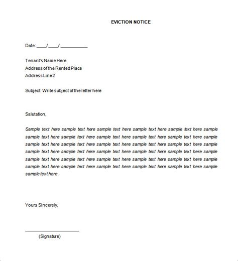 37 Eviction Notice Templates Doc Pdf Free Premium Templates Lodger Eviction Letter Template