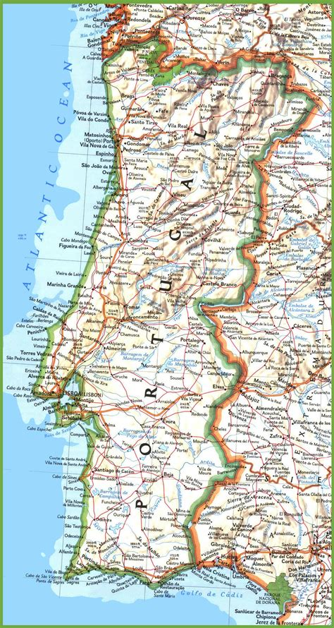printable road map of portugal portugal road map