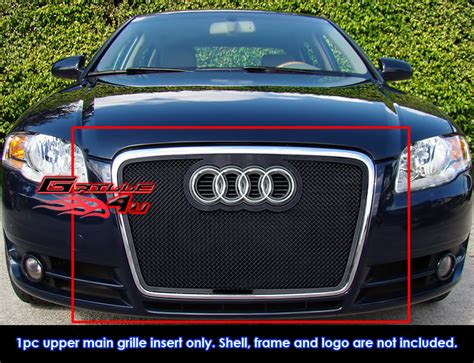 fits 2006 2007 audi a4 b7 cabriolet black stainless steel