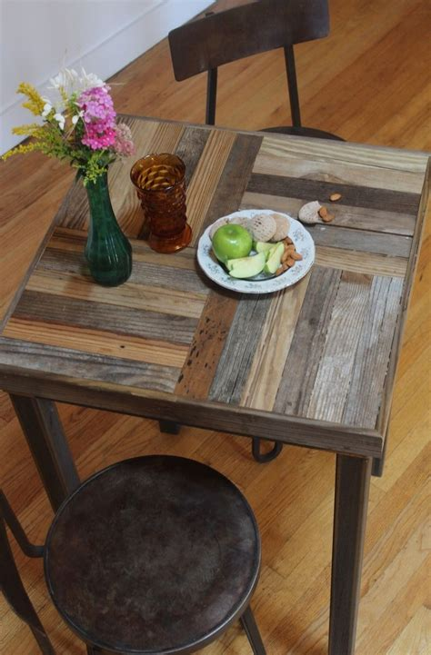 Reclaimed Wood Bistro Table Made Rustic Reclaimed Sustainably Harvested Wood Bistro Kitchen Table Quot Crux By New