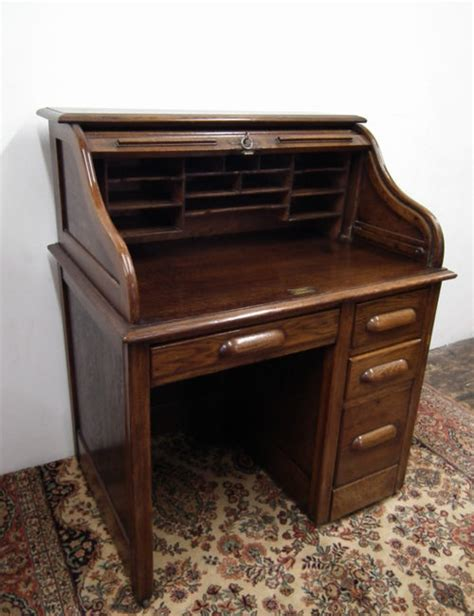 small roll top desk for sale small oak roll top desk antiques atlas