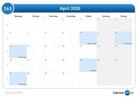 kalender  april kalender