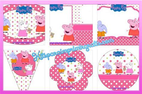 kit imprimible de peppa pig peppa pig kits para imprimir gratis