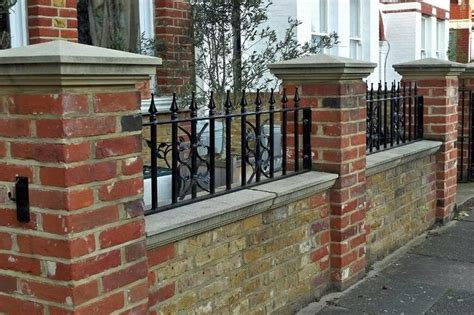 Garden Wall Railings Wall Top Railing With Coping Fences For Back Yard