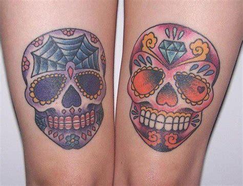 sugar skull thigh tattoos skull tattoos give on skin 171 articles
