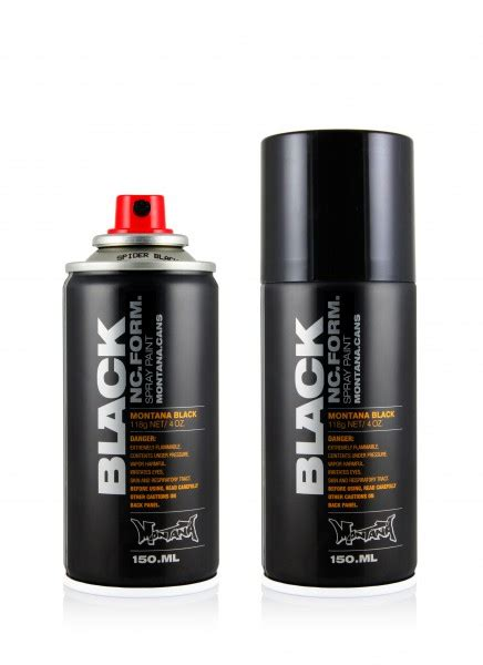 montana black spider 150ml black 50ml 600ml spray