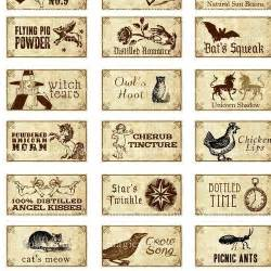 8 best images of witches potion labels free printable