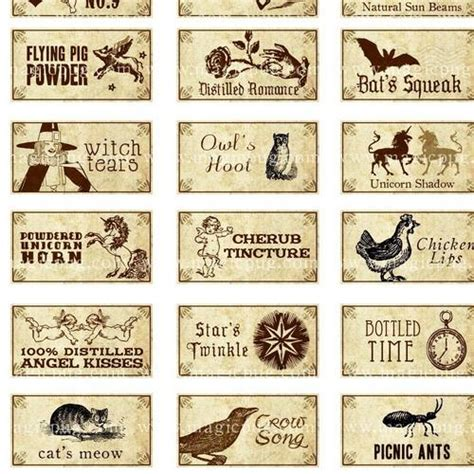 potion label template witch potion bottle labels