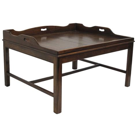 Coffee Table Trays Georgian Mahogany Butler S Tray Coffee Table For Sale At 1stdibs