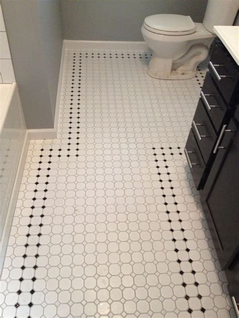 octagonal tile flooring bathroom retro inspired octagon and dot bathroom floor tile with