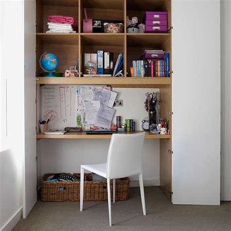 Desk Shelving Ideas Home Office With Alcove Desk Shelving And Doors Modern Storage Ideas Decorating