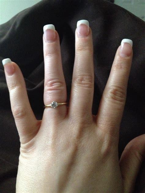help does my ring look tight weddingbee