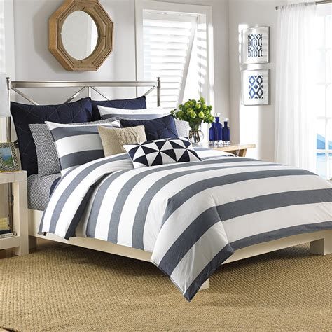 navy bedding set nautica lawndale navy comforter and duvet sets from beddingstyle com
