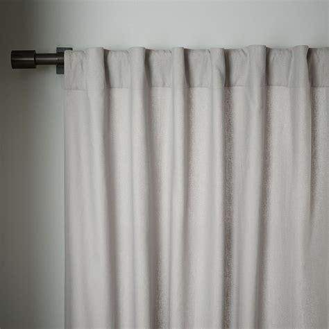 Black Linen Curtains Linen Cotton Curtain Blackout Panel Platinum West Elm Uk