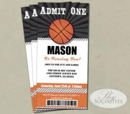 basketball invitation basketball tickets admit one