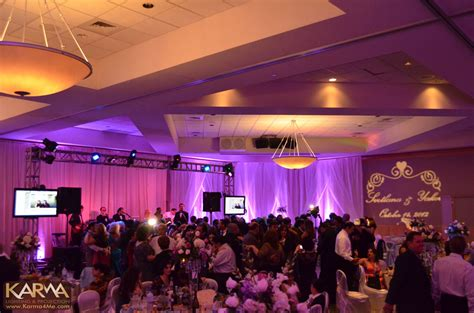 Purple Drape Karma Event Lighting For Weddings And Special Events