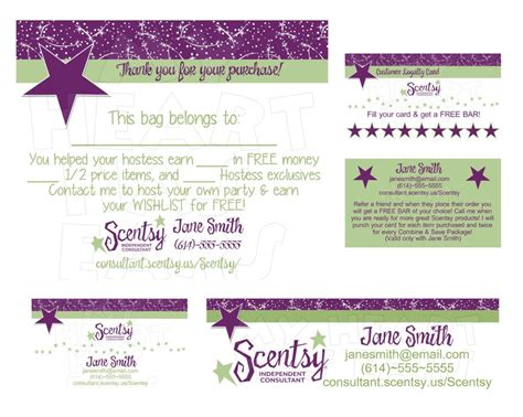 scentsy business card template scentsy business bundle custom printable digital business