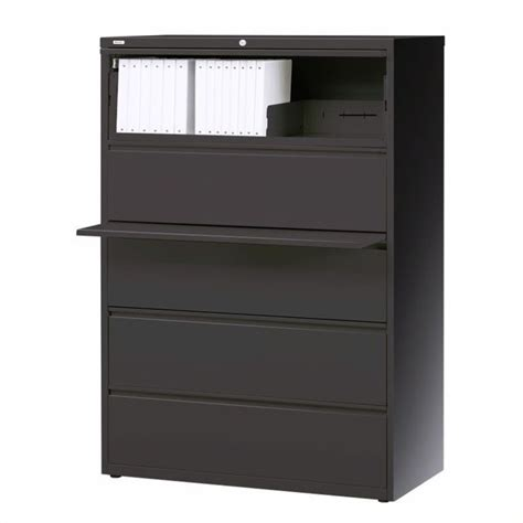 5 drawer lateral file cabinet in charcoal 16072