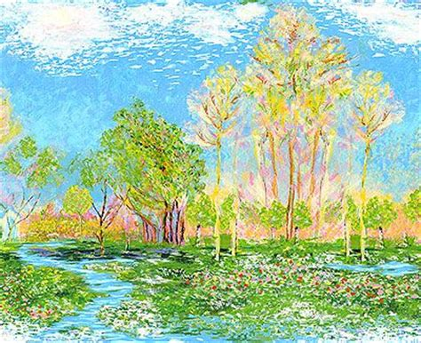 Landscape Fabric Panels Great Monet Inspired Fabric A Landscape Quilt