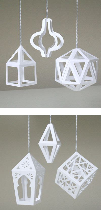 3d lantern template 17 best images about paper crafts on geometric