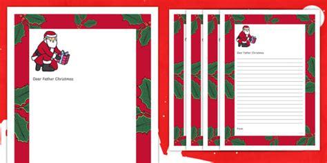 letter santa christmas writing template twinkl