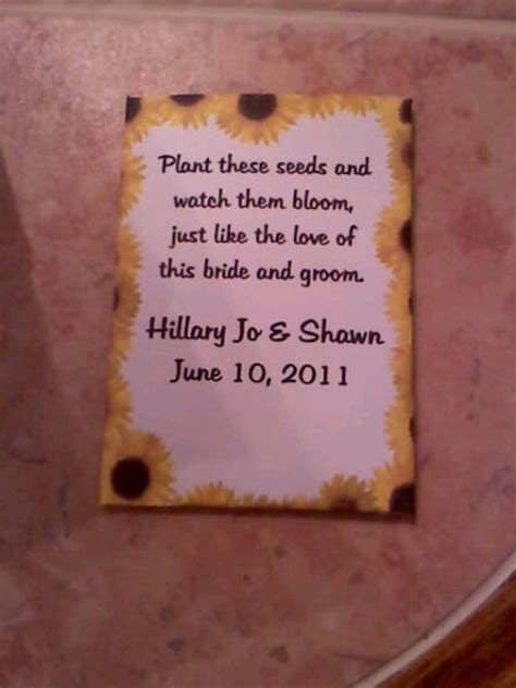 Seed Wedding Favor Quotes L2bestfo