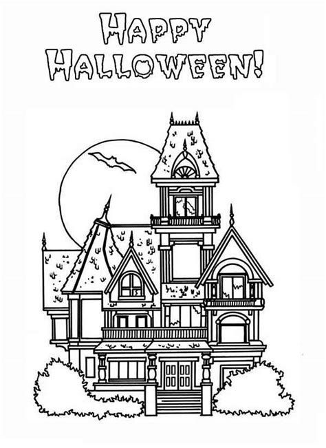 big haunted house coloring page coloring home