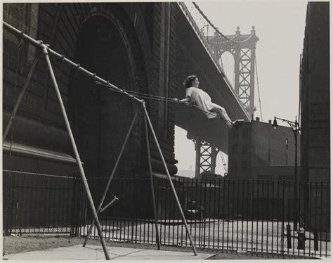 east side swing girl on swing pitt street lower east side nyc 1938