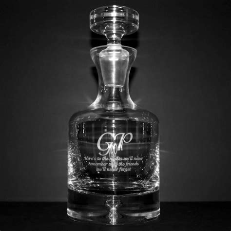 whiskey barware personalized whiskey decanters barware custom engraved