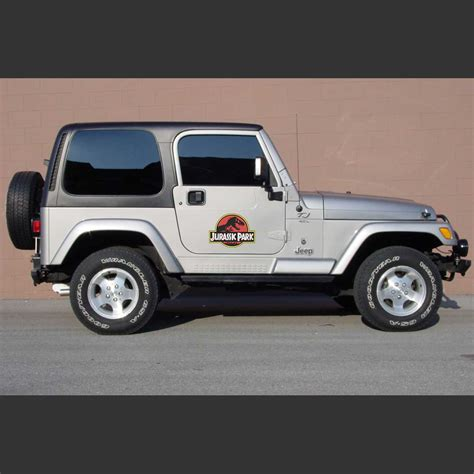 jeep decals jeep wrangler jurassic park door set decal